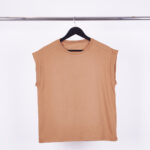 REMERA 30/1 PLIEGUE - terracota - unico
