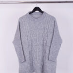 SWEATER FRISADO OVER ROMBO - natural - unico